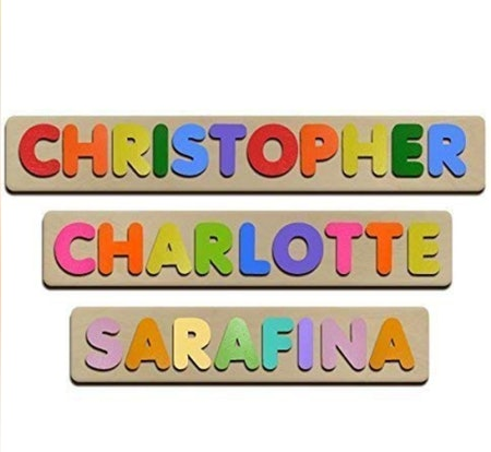 Bubble Fonts Personalized Wooden Name Puzzles