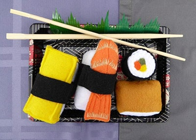 Felt Food Sushi Play Set 4 Piece Pretend Food Play Set