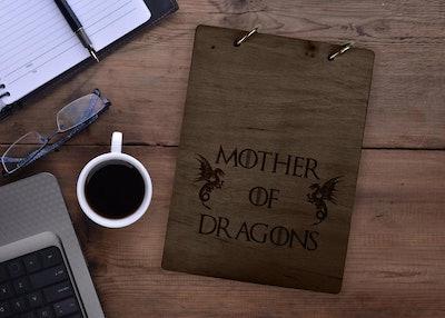 Game of Thrones Wood Notebook