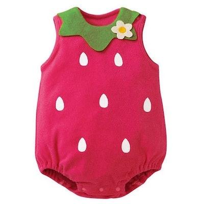 Newborn Strawberry Romper (Sizes 0-12 months)