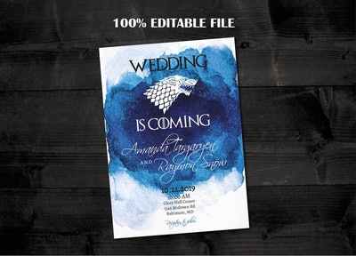Wedding Is Coming Invitation Template