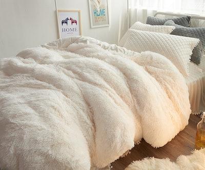 Ceruleanhome Velvet Flannel Duvet Cover