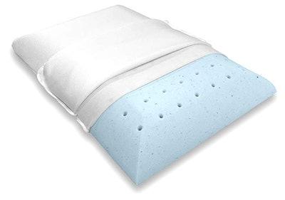 Bluewave Bedding Ultra Slim Gel Memory Foam Pillow