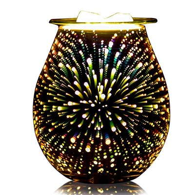 QUSUP 3D Glass Electric Wax Melt Warmer