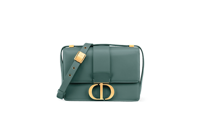 30 Montaigne Calfskin Bag in Storm Blue