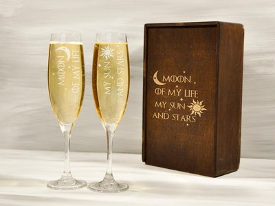 Game of Thrones Wedding Flutes