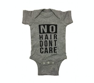 "Fayebeline Unisex ""No Hair Don't Care"" Bodysuit (Sizes 0-12 months)"
