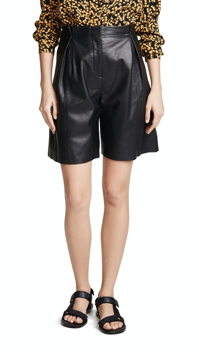 Milano Smooth Leather Shorts