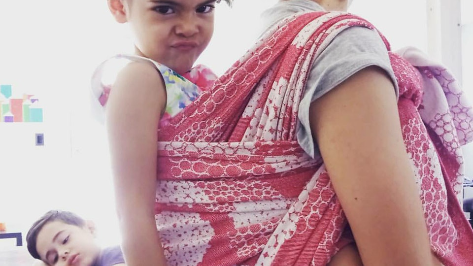 When Baby Wearing Becomes Toddler Wearing