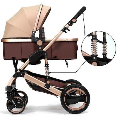 Belecoo Luxury Newborn Baby Foldable Stroller