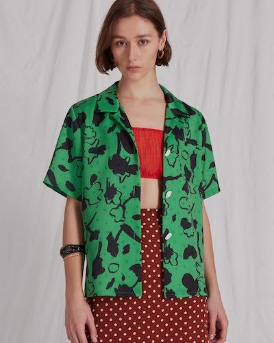 Green Print Mila Shirt