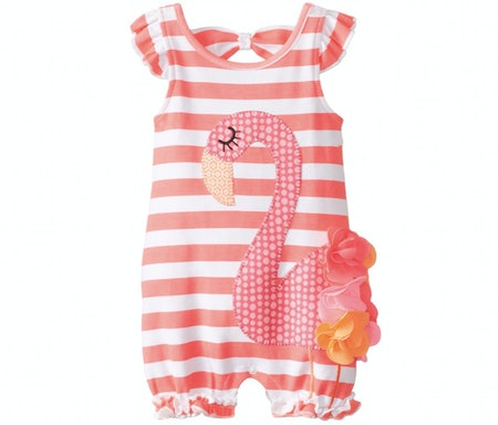 Mud Pie Flamingo Romper (Sizes 0-18 months)
