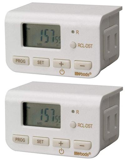 Woods 50007WD Indoor 24-Hour Digital Plug-In Timer
