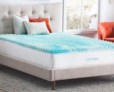 Linenspa 2-Inch Gel Swirl Memory Foam Mattress Topper
