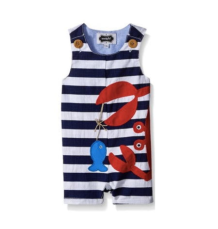 Mud Pie Crab Romper (Sizes 0-18 months)