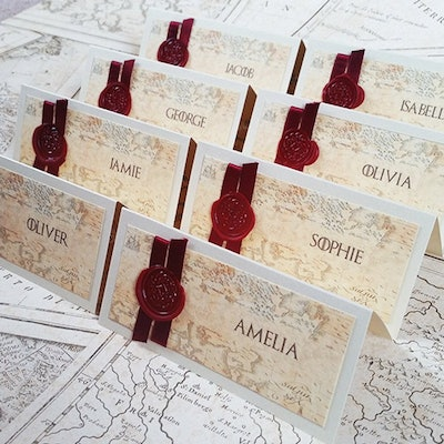 Game Of Thrones Place Cards