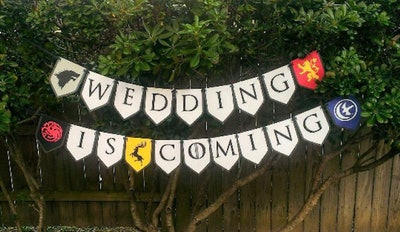 Wedding Is Coming Banner