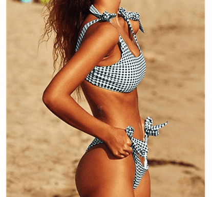 Blooming Jelly Tie-Knot Padded Push-Up Bikini Set