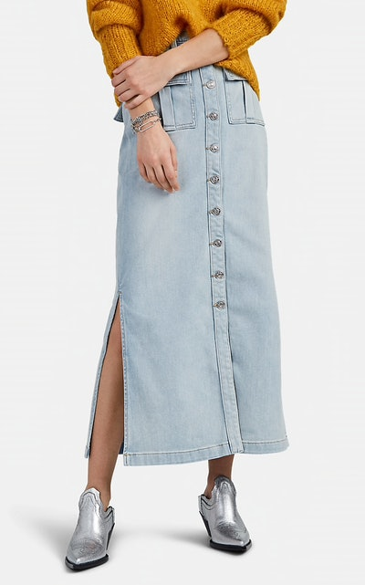 Surfview Denim Maxi Skirt