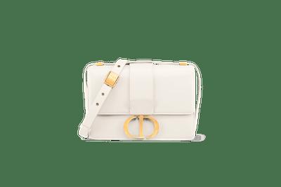 30 Montaigne Calfskin Bag in Off-White