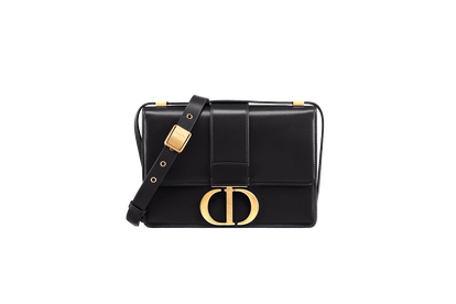 30 Montaigne Calfskin Bag in Black