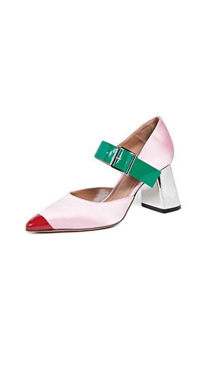Color-Block Mary Jane Pumps