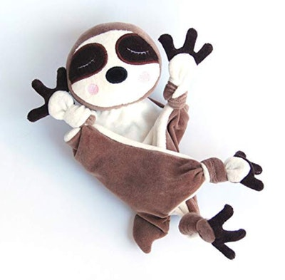 Baby Sloth Lovey Toy Personalized