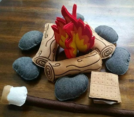 Felt Campfire Play Set for Camping & Storytelling