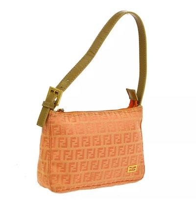Vintage Mini Peach Logo Shoulder Bag