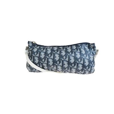 Vintage Nylon Mini Navy Shoulder Bag