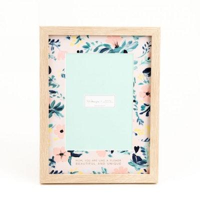 Floral Wood Frame