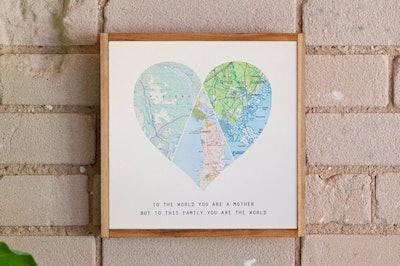 Wood Heart Map