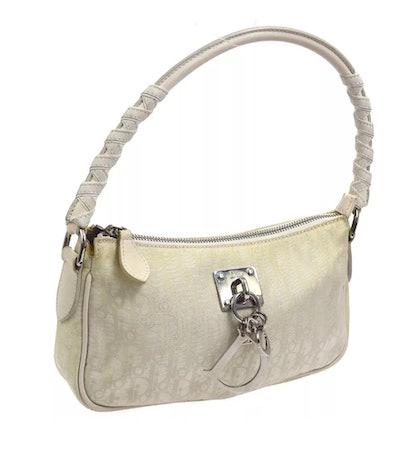 Vintage Small White Logo Shoulder Bag