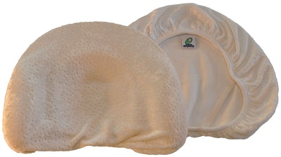 Infant Head Shaping Memory Foam Pillow & Organic Bamboo Pillowcase