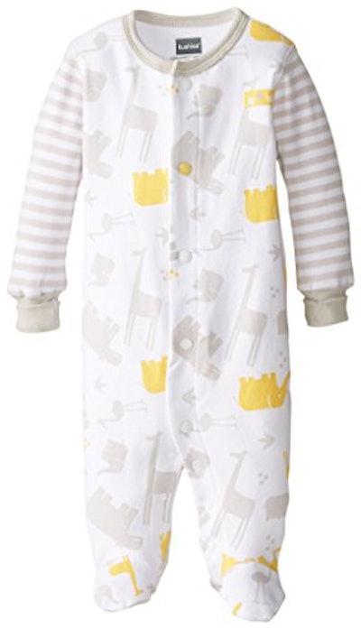 Kushies Unisex-Baby Newborn Front Snap Sleeper (Premie-1 Month)