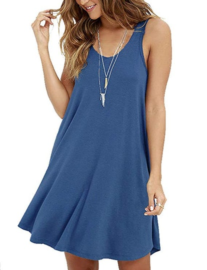 MOLERANI Casual Swing Simple T-Shirt Dress