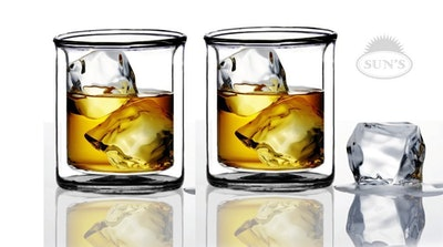 Sun's Tea Strong Double Wall Glasses (Set of 2)