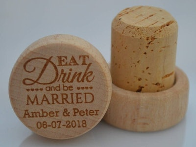 Personalized Wine Stopper Favors