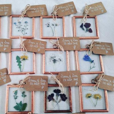 Wedding Favours - Botanical Copper Frames!