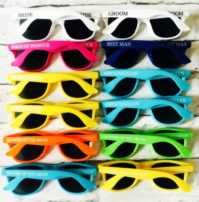 Personalised Wedding Sunglasses Favors