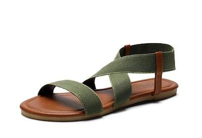 SANDALUP Women's Elastic Flat Sandals