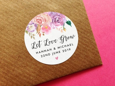 Personalized Let Love Grow Stickers