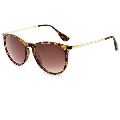 SUNGAIT Vintage Round Sunglasses