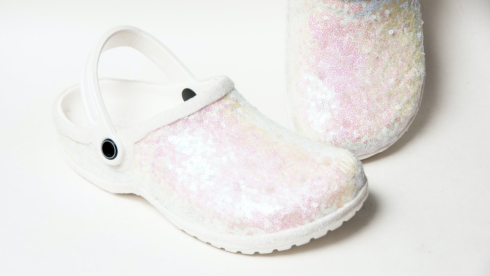 0509d536edab This Etsy Seller Makes Wedding Crocs & They're As Sparkly As You Think