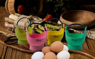 Skoo Silicone Egg Poaching Cups (4-Pack)