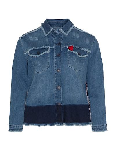 Frapp Frayed Denim Jacket