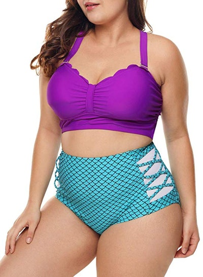 Camlinbo Plus Size Mermaid Bikini