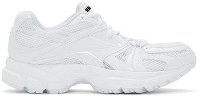 White Reebok Edition Spike Runner 200 Sneakers