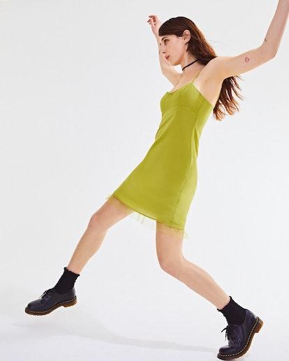 Betsey Johnson UO Exclusive Mesh Trim Mini Dress