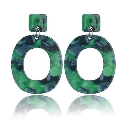 Acrylic Statement Earrings